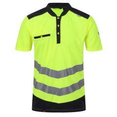 Regatta Men's Tactical Hi-Vis Reflective Polo Shirt – Yellow/Grey (TRS176) front