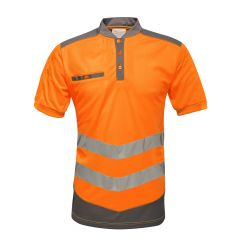 Regatta Men's Tactical Hi-Vis Reflective Polo Shirt – Orange/Grey (TRS176 7BV60)