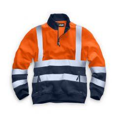 TCSS237-1-Standsafe- Hi-Vis-Zip-Sweatshirt-Orange
