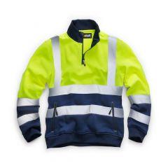 TCSS240P-1-Standsafe-Hi-Vis-Zip-Sweatshirt-Yellow