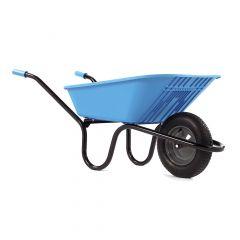 Haemmerlin 5000 GO Polypropylene Wheelbarrow with Pneumatic Tyre Blue 90L