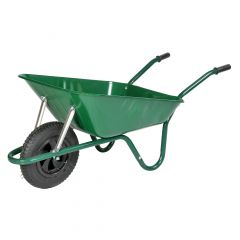 Walsall Heavy Duty Wheelbarrow in a Box Pneumatic Tyre Green 85L - BEASGP