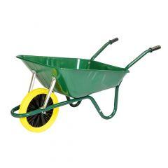 Walsall Heavy Duty Wheelbarrow In A Box Green Puncture Free Tyre 85l - BEASGPP