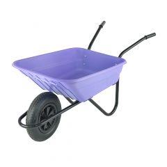 Walsall Polypropylene Wheelbarrow in a Box Pneumatic Tyre Lilac 90L - BSHLILP