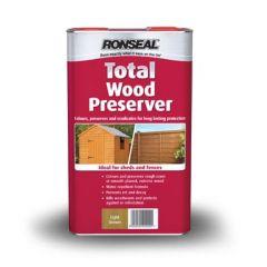 Ronseal Total Wood Preserver 5L Black
