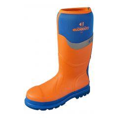 Buckler Buckbootz Insulated Wellington Safety Boots (Orange/Blue) BBZ600OR
