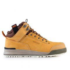 Scruffs Switchback Safety Nubuck Hiker Boots (Tan)