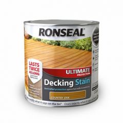 Ronseal Ultimate Protection Decking Stain-2.5 Litres-Medium Oak