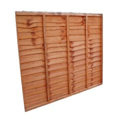 Waney Lap Fencing Panel 1828x1524mm Treated