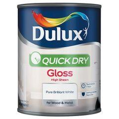 Dulux Weathershield Quick Gloss Pure Brilliant White  750ml