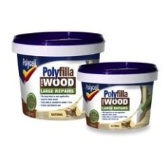 Polycell Polyfilla Wood Filler Lge/Rep Natural Tub 2X250g
