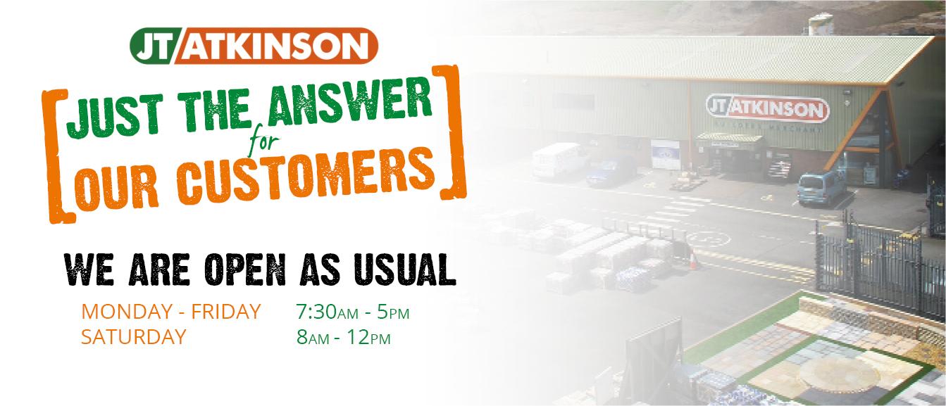 We're Open | JT Atkinson