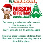 Mission Christmas with Monkey Models in Middlesbrough!