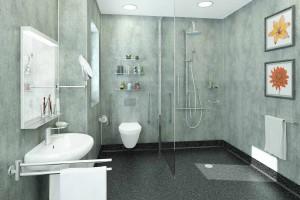 Multipanel Wetroom