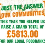 We are proud to support our local food banks